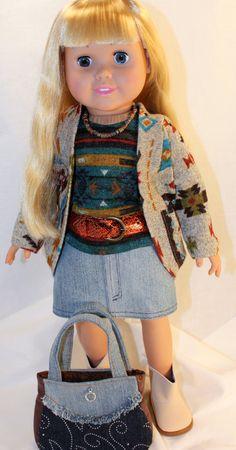 American Girl/ 18 Inch Doll Clothes  Southwestern by AuroraandLuna, $38.00