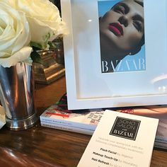 Hourglass at the @harpersbazaar Soho Salon beauty event at Soho House in West Hollywood, Los Angeles.