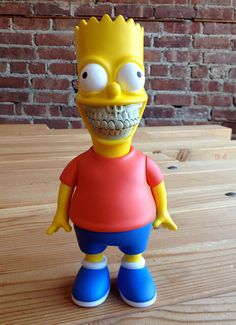 The Simpsonzzz... Bart Grin (Red) by Ron English  #Simpsons #Bar #Vinyl #Toy