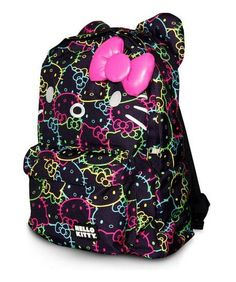 Hello Kitty Bright Neon All Over Print Backpack by Loungefly