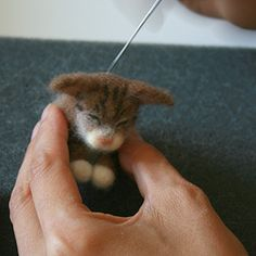 Handmade Needle Felted Pet Sculptures: Method