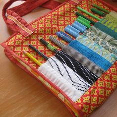 Fun way to store grown up Smash book/junk journal supplies. Kid's draughtsman's pouch tutorial | Sewn Up by TeresaDownUnder