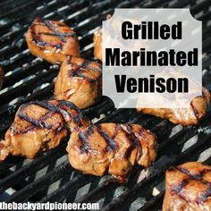 The best! Marinated Venison Backstrap The Marinade C. Balsamic Vinegar C. Worcestershire Sauce (I use Lea and Perrins Original ) C. Soy Sauce C. Olive Oil 2 minced cloves of garlic Elk Recipes, Venison Recipes, Grilling Recipes, Fish Recipes, Cooking Recipes, Game Recipes, Venison Meals, Yummy Recipes, Recipies