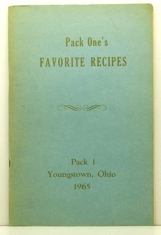 Pack One's Favorite Recipes Pack 1 by ClassicOldCookbooks on Etsy, $9.99