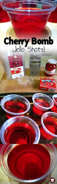17 Reasons why the Amish were RIGHT about Cherry Bomb Jello Shots! HA, No! but for real.. these Cherry Bomb Jello Shots are Cherry Bomb Jello Shots Ingredi