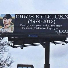 Thank You for your service, Chris Kyle! And to all who keep us safe, thank you!