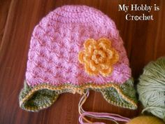 Shells Baby Hat with Ear Flaps- Free Pattern