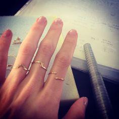 Sneek Peak! Rings in gold and diamonds!