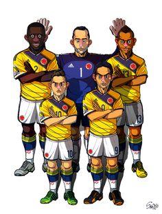 [2014 World cup Edition] C team : Colombia by sakiroo.deviantart.com on @deviantART. Mucho más sobre nuestra hermosa Colombia en www.solerplanet.com