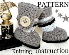 Knitting PATTERN Baby Booties PATTERN Knit Baby por Solnishko43