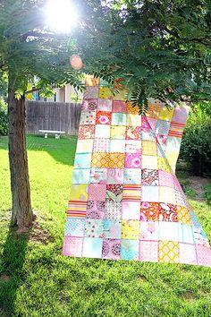 Simple Patchwork Quilt Top