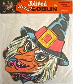 """Vintage  Halloween """"Jointed Witch Goblin"""" from the early 1970's by Beistle"""