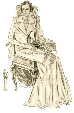 1935 Wedding Gown, Br30-35209