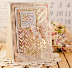 Card Making Ideas by Becca Feeken using Spellbinders Diagonal Chevron and Labels 42 Decorative Accents