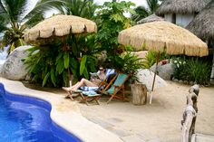 What sets Playa Escondida apart from other romantic hideaways is the lovely swimming pool set in lush tropical gardens. #Sayulita #RivieraNayarit http://www.playa-escondida.com/features/pooljacuzzi/