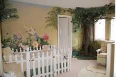 paper mache trees | picture of a large papier-mâché tree and a mural I found online.