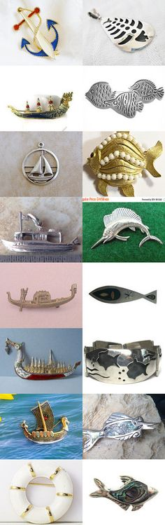 12/16  Out at Sea - Vintage Jewelry from Vjt by moonbeam0923 on Etsy--Pinned+with+TreasuryPin.com