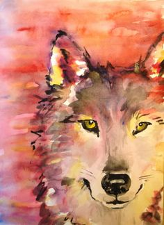 watercolor wolves - Google Search