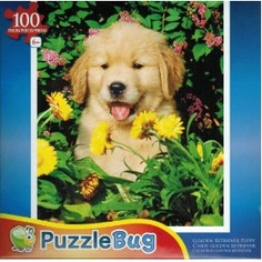 Puzzlebug 100 piece golden retriever puppy