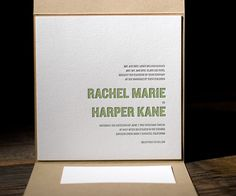 Letterpress Wedding Invitations | Bleecker Modern Design | Bella Figura Letterpress