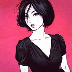 "bear1na: ""Art by Ilya Kuvshinov * """