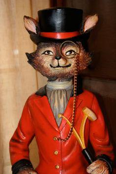 Mr. Fox, the Hunter's Head Tavern mascot- from New York Social Diary