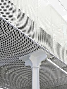 Dek-mar Mesh Asma Tavan Sistemleri 216 499 0892 Art Gallery by L'Atelier Senzu - News - Office Interior Design, Office Interiors, Interior Decorating, Facade Architecture, Contemporary Architecture, Expanded Metal Mesh, Office Ceiling, Plafond Design, Facade Design