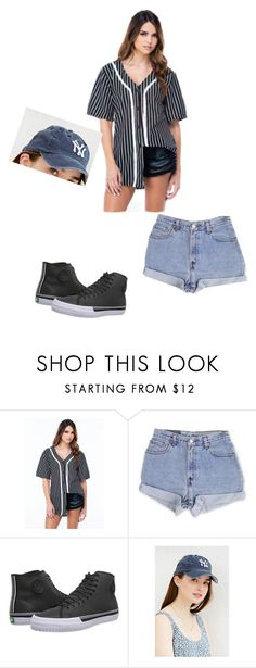 """She man"" by angie-is-the-boss ❤ liked on Polyvore featuring Levi's, PF Flyers and Urban Outfitters"