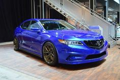 2017 Acura TLX blue color