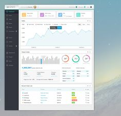 Infinite Admin Free PSD Dashboard