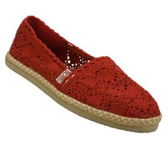 cutest Bob's shoe - loving the red lace