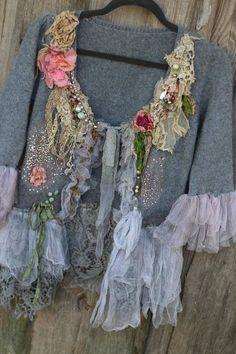 Winter magic cardi ornate boho jacket bohemian romantic