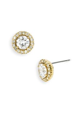 Nadri Round Cubic Zirconia Stud Earrings available at #Nordstrom for junior bridesmaids? @Ashley Lauren