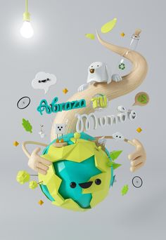 ABRAZA TU MUNDO on Behance 3D illustration poster characters