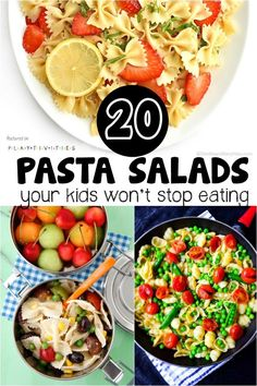 Pasta Salads Your Kids Will Not Stop Eating - Recipes to Try - Salat Rezepte Pasta Salad For Kids, Kids Pasta, Salads For Kids, Healthy Pasta Salad, Healthy Pastas, Pasta Salad Recipes, Healthy Recipes, Baby Food Recipes, Healthy Kids