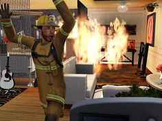 Yes, Mr. Firefighter, please run AWAY from the fire you're supposed to put out.