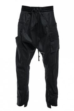 Delusion Slant Drop Crotch Trousers Black #Mens #fashion #luxury #style #designer #conceptual #contemporary #AW13 #mensfashion #clothes #designerclothes #fashionshoot #fashioncampaign