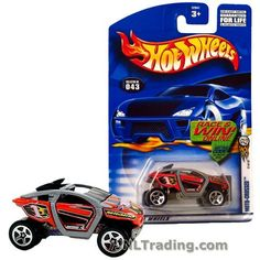 Hot Wheels Year 2001 First Editions Series 1:64 Scale Die Cast Car Set #31 - Red Color All Terrain Vehicle ATV MOTO-CROSSED with Gray Bar 52941
