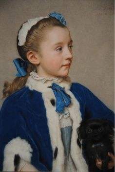 Portrait of Maria Frederike van Reede-Athlone at Seven, 1755, by Jean-Etienne Liotard. Getty Museum