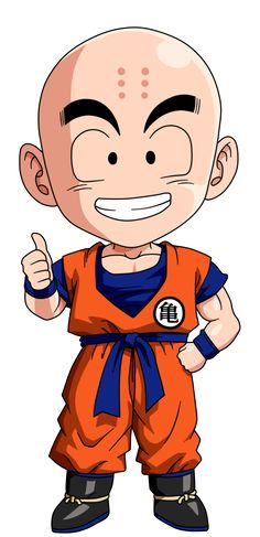 Personajes Chibi de Dragon Ball- Krilin
