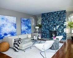 Blue Artwork   Beautiful Homes Design