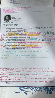 English Gcse Revision, Gcse English Language, Revision Notes, Study Notes, School Motivation, Study Motivation, Persuasive Writing, Writing Tips, Ozymandias Poem Analysis