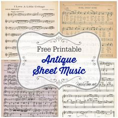 Printable Antique Sheet Music Spring Printable Antique Sheet Music via Can be used on a white candle for a quick and easy gift.Spring Printable Antique Sheet Music via Can be used on a white candle for a quick and easy gift. Sheet Music Crafts, Sheet Music Art, Vintage Sheet Music, Vintage Sheets, Music Sheets, Printable Sheet Music, Printable Paper, Printable Vintage, My Funny Valentine