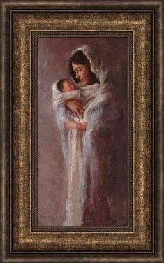 LDS Art - Christmas & Nativity — Altus Fine Art Holy Family Pictures, Baby Jesus Pictures, Light Of The World, Light Of Life, Idaho Falls Temple, Beside Still Waters, Lds Art, Lighted Canvas, Holding Baby