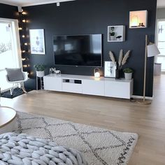 99 Amazing Living Room TV Wall Decor Ideas And Remodel - - 99 Amazing Living Room TV Wall Decor Ideas And Remodel Living Room 99 Amazing Living Room TV Wall Decor Ideas And Remodel Condo Living Room, Living Room Decor Cozy, Decor Room, Interior Design Living Room, Home And Living, Living Room Designs, Bedroom Decor, Tv On Wall Ideas Living Room, Small Living Room Ideas With Tv