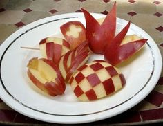 Apples are good treatment for gout. Can you create apple bunnies?