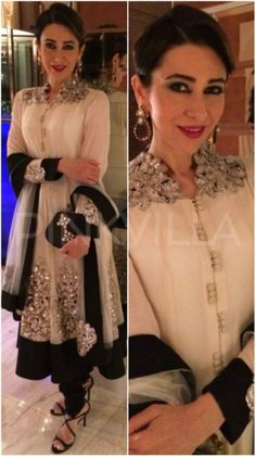 Karisma Kapoor in Nupur Kanoi anarkali - Outfit #desi #indian #fashion #pakistani #southasian #wedding