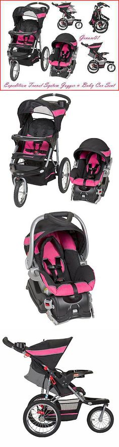 baby and kid stuff: Trend Travel System Expedition Jogger Stroller And Baby Infant Car Seat Bubblegum BUY IT NOW ONLY: $165.44