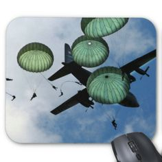 http://www.zazzle.com/mass_jump_mission_parachutes_u_s_army_mousepad-144212495683425743?rf=238756979555966366 The Army 82nd Airborne Division, from Fort Bragg, N.C., performs a mass jump with 120 members during the 56th annual Department of Defense 2006 Joint Service Open House (JSOH) hosted at Andrews Air Force Base, Md., May 20, 2006. The 82nd Airborne Division's real world mission is to within 18 hours of notification, strategically deploy, conduct forcible entry parachute..