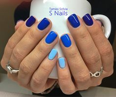98 beautiful and amazing nail art for the summer page 11 - Nageldesign - Spring Nails, Summer Nails, Summer Nail Colors, Pretty Nails For Summer, Summer Nail Polish, Blue Nail Polish, Gel Nail Colors, How To Do Nails, My Nails